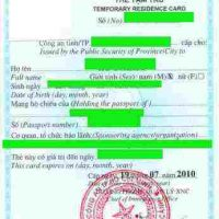 vietnam temporary residence card service for foreigners, temporary residence card for foreigners in vietnam