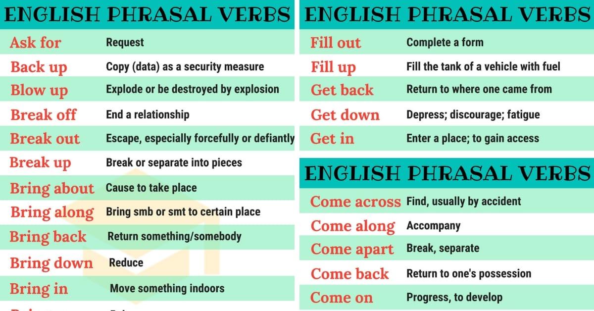 bài tập trắc nghiệm phrasal verbs