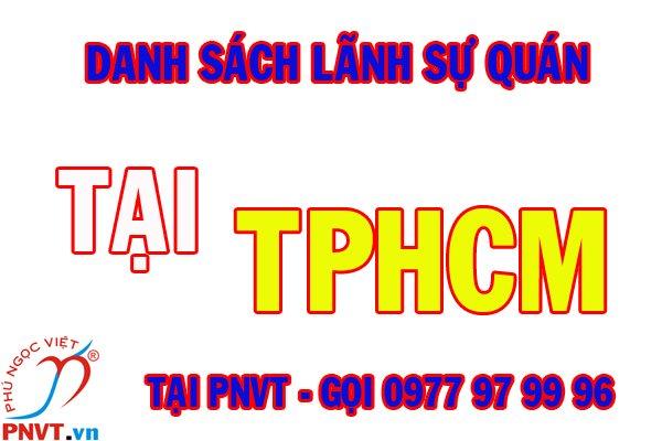 Danh sách các tổng lãnh sự quán nước ngoài ở thành phố Hồ Chí Minh và thông tin liên hệ