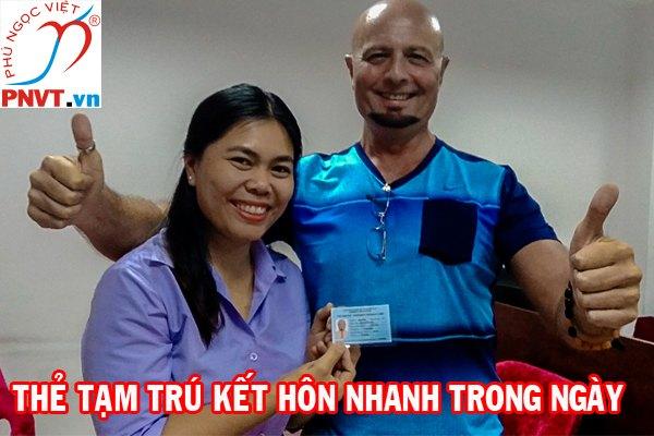 Dịch vụ làm thẻ tạm trú cho người nước ngoài theo diện kết hôn