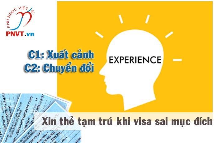 Giải bài toán xin cấp thẻ tạm trú khi visa sai mục đích như thế nào