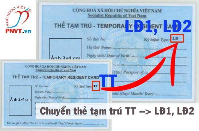 chuyển đổi thẻ tạm trú tt sang thẻ tạm trú lđ1, lđ2