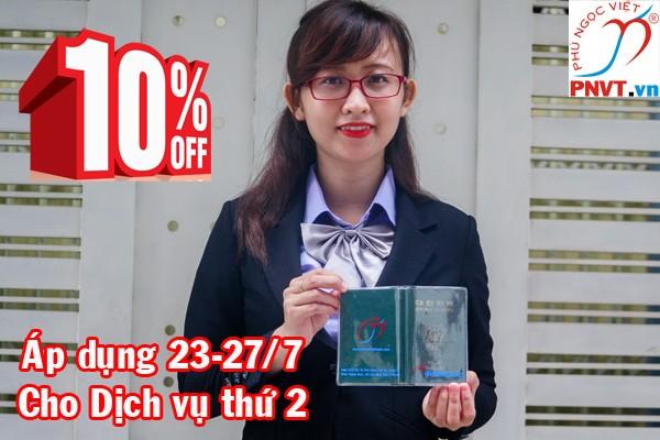 Giảm 10% phí dịch vụ gia hạn thẻ tạm trú nhân ngày Thương binh Liệt sĩ 27/7