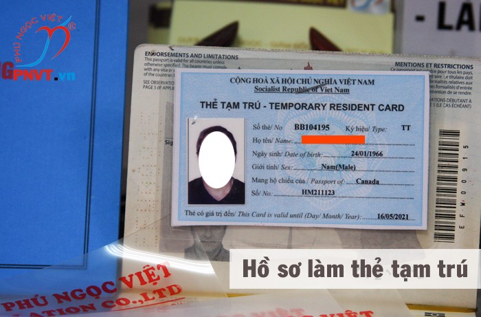 hồ sơ làm thẻ tạm trú cho người nước ngoài