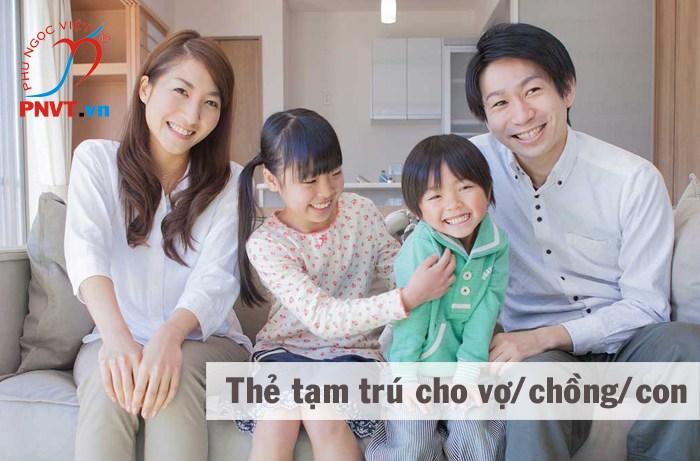 Hồ sơ xin cấp thẻ tạm trú cho vợ, chồng, con của người Nhật ở TPHCM