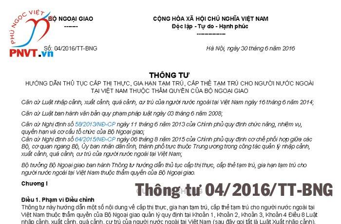 Hướng dẫn thủ tục cấp thẻ tạm trú cho người nước ngoài tại Việt Nam
