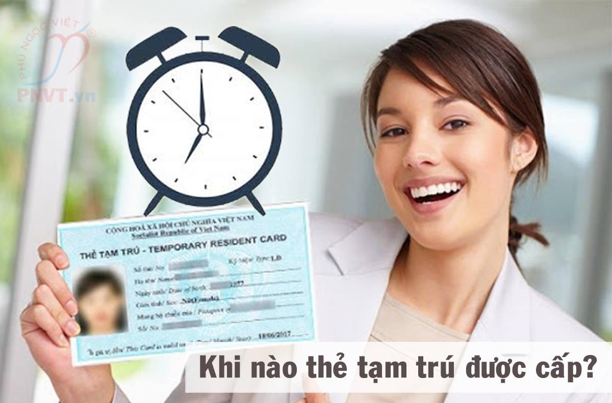 khi nào người nước ngoài được cấp thẻ tạm trú