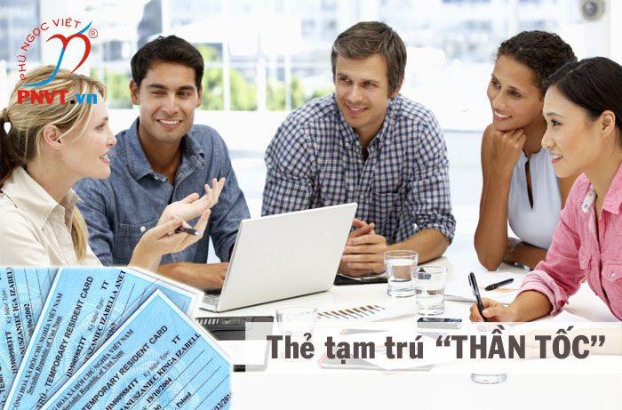 Làm thẻ tạm trú cho người nước ngoài thần tốc tại TPHCM
