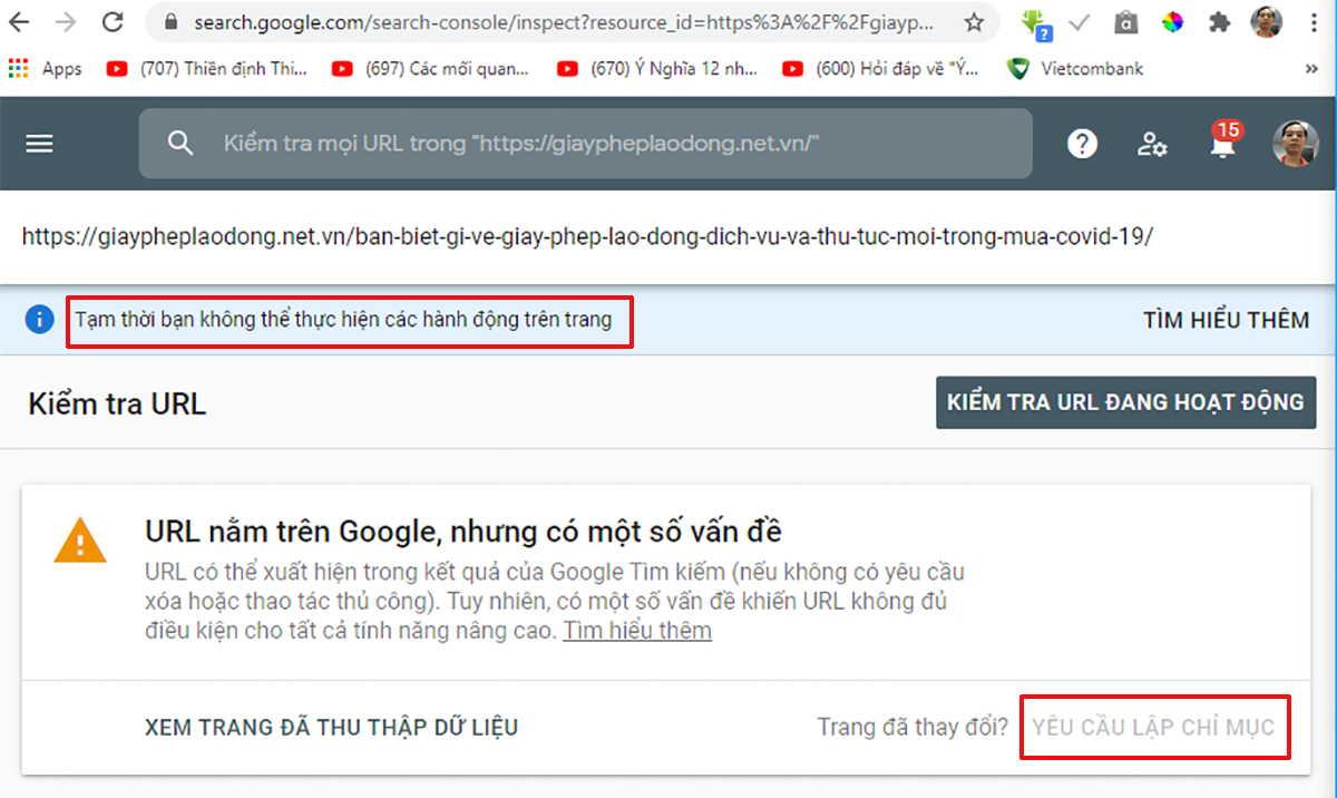 Lỗi không index của google