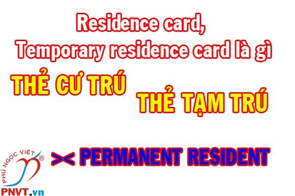 residence card là gì