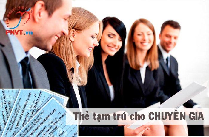 thẻ tạm trú cho chuyên gia người nước ngoài