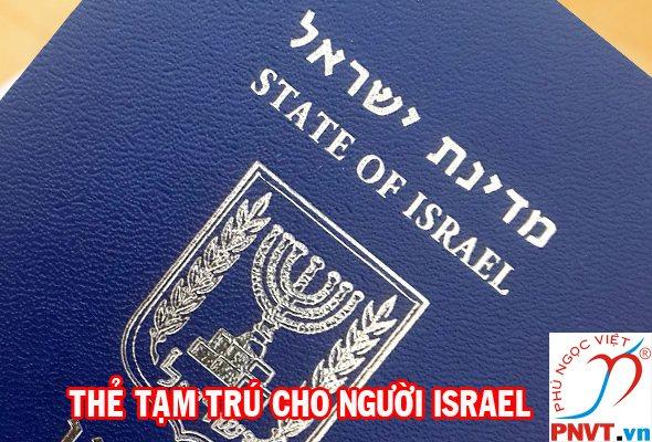 Thẻ tạm trú cho người Israel