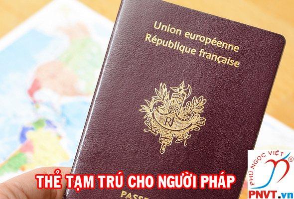 Thẻ tạm trú cho người Pháp