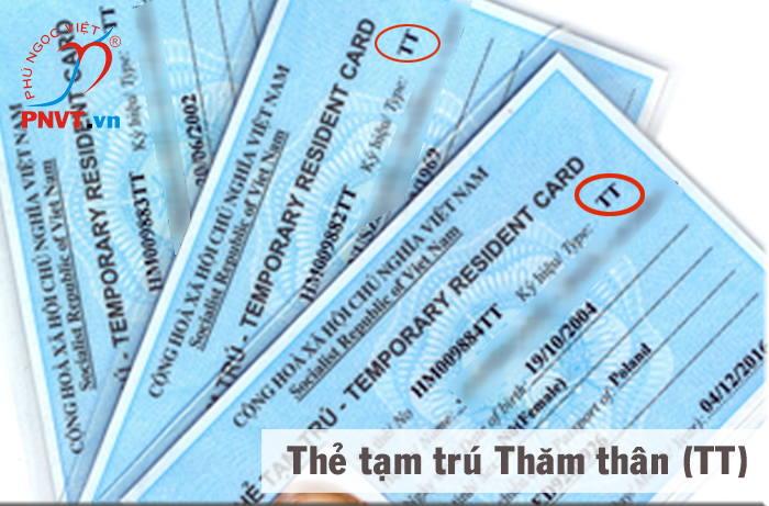 Làm thủ tục xin cấp thẻ tạm trú thăm thân TT