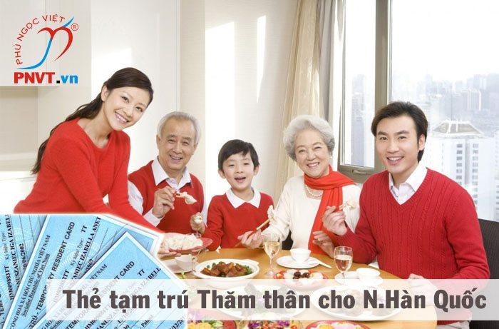 Thẻ tạm trú thăm thân cho người Hàn Quốc tại TPHCM