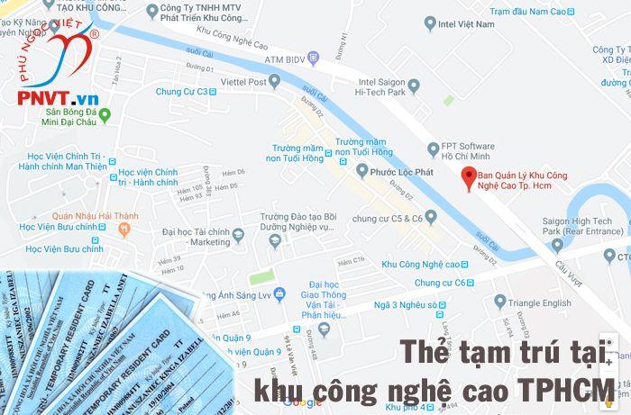 Thẻ tạm trú thăm thân cho người nước ngoài ở Khu công nghệ cao TPHCM