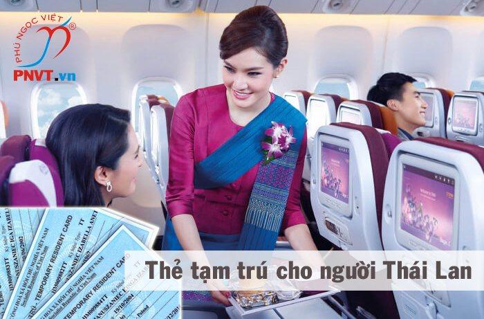 Thủ tục xin cấp thẻ tạm trú cho thân nhân người Thái Lan ở Việt Nam