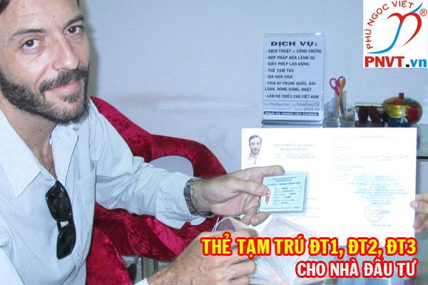 thủ tục xin cấp thẻ tạm trú đt1, đt2, đt3