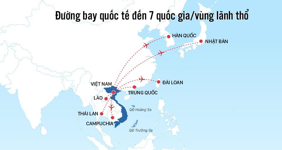 Việt Nam mở lại 7 đường bay quốc tế