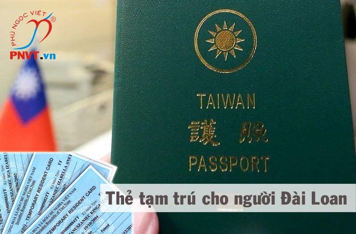 thẻ tạm trú cho người đài loan