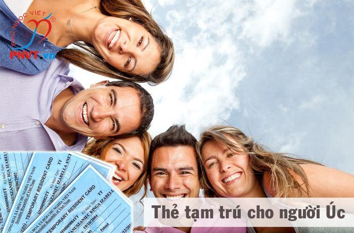 Xin cấp thẻ tạm trú cho người Úc tại TPHCM